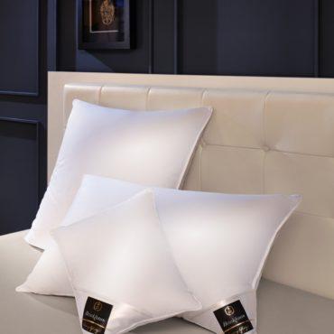 Подушка Chalet наполнена отборным пухом высшего качества и обеспечивает мягкую поддержку шеи во время сна.Для и создания максимального комфорта эта подушка подходит как никакая другая.  Состав:  Чехол: 100% хлопок, ультра-легкий нано-батист  Наполнитель:90%/10% новый белый пух/перо гуся Сибирской породы