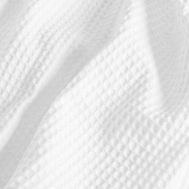 Классический халат из вафельной ткани.